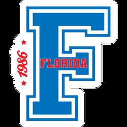 Vintage College Florida Slogan Sticker