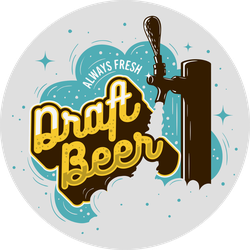 Vintage Draft Beer Tap Sticker
