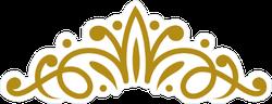 Vintage Elegant Gold Tiara Sticker
