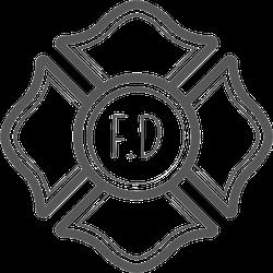 Vintage Firefighter Cross Emblem Sticker