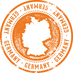 Vintage Germany European Country Travel Stamp Sticker
