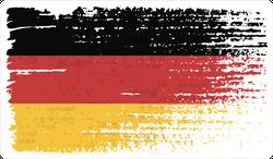 Vintage Germany Flag Grunge Sticker
