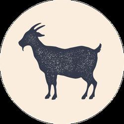 Vintage Goat Silhouette Sticker