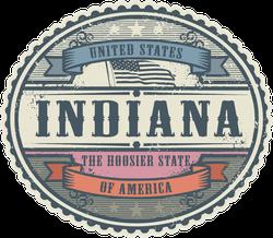 Vintage Indiana Sticker