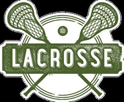 Vintage Lacrosse Sport Clip Art Sticker