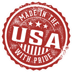Vintage Made In The USA With Pride Stamp Sticker