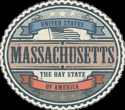 Vintage Massachusetts Stickers