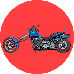 Vintage Motorcycle Bike Retro Sticker