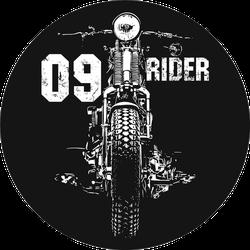 Vintage Motorcycle Hand Drawn Rider Sticker