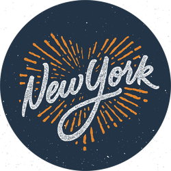 Vintage New York Calligraphic Sticker