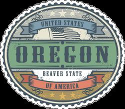 Vintage Oregon Sticker