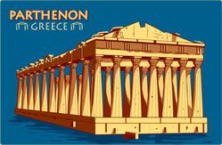 Vintage Parthenon In Athens Sticker
