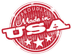 Vintage Proudly Made In USA Sticker