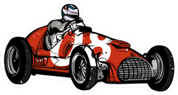 Vintage Race Car Sticker