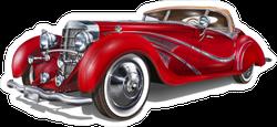 Vintage Red Car Sticker