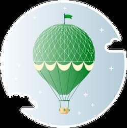 Vintage Retro Hot Air Balloon Sticker