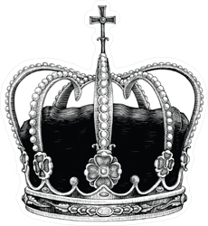 Vintage Royal Crown Sticker