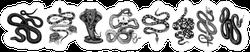 Vintage Snake Set Sticker