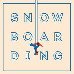 Vintage Snowboarding Poster Sticker