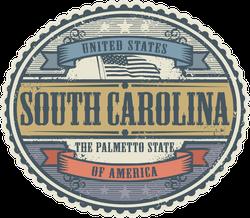 Vintage South Carolina Sticker