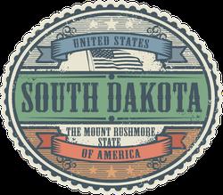 Vintage South Dakota Sticker