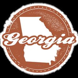 Vintage Style Georgia Usa State Sticker