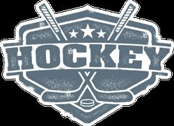 Vintage Style Hockey Sport Crest Sticker