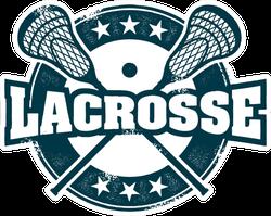 Vintage Style Lacrosse Sport Stamp Sticker