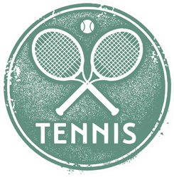 Vintage Tennis Sport Stamp Sticker