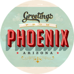 Vintage Touristic Greetings From Phoenix Arizona Sticker