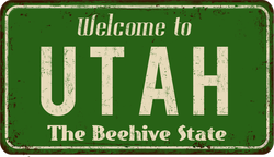 Vintage Welcome To Utah Sticker