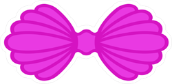 Violet Mermaid Sea Shell Bra Sticker