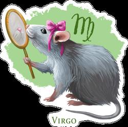 Virgo Creative Illustration Of Astrological Sign Rat Sticker