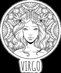Virgo Zodiac Sign Artwork Sticker