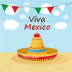Viva Mexico Beach Celebration Sticker