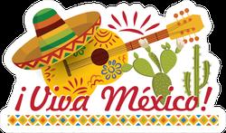 Viva Mexico Guitar Sticker