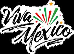 Viva Mexico Hand Lettering Sticker