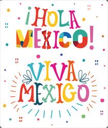 Viva Mexico Hola Mexico Text Sticker