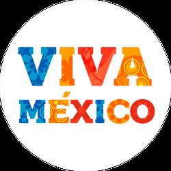 Viva Mexico Typography Sticker