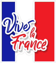 Vive La France Celebration Sticker