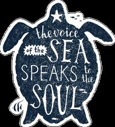 Voice of the Sea Swimming Turtle Sticker