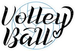 Volleyball Black Lettering Sticker