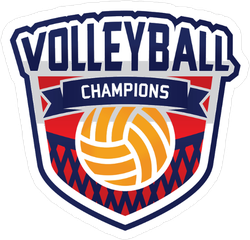 Volleyball Champions Badge Sticker