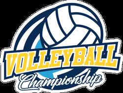 Volleyball Championship Badge Sticker
