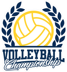 Volleyball Championship Logo Sticker