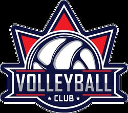 Volleyball Club Logo Sticker