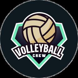 Volleyball Crew Logo Sticker