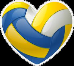 Volleyball Heart Ball Sticker