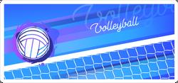 Volleyball Net And Ball Sticker