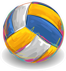 Volleyball Painting Sticker